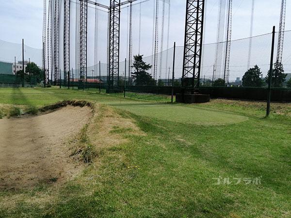 ヤマグチゴルフクラブのバンカーの練習場
