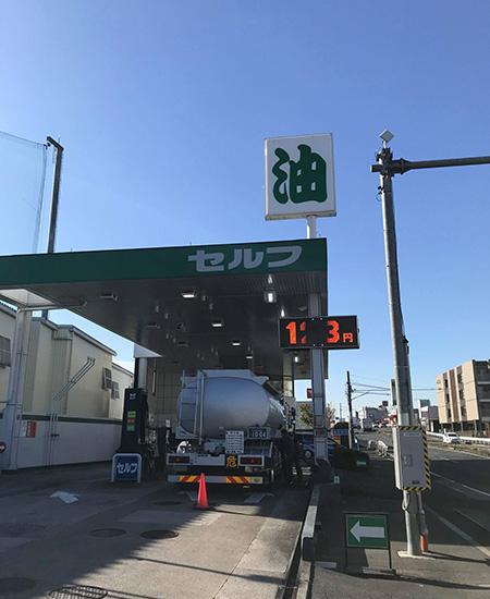 岩槻ファミリーゴルフの横のガソリンスタンド