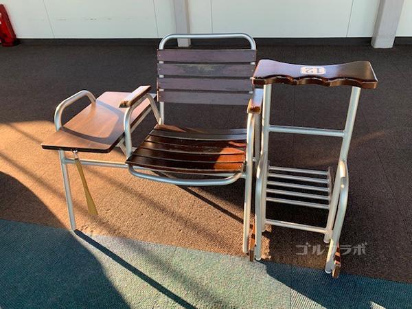 京王若葉台ゴルフ練習場の椅子