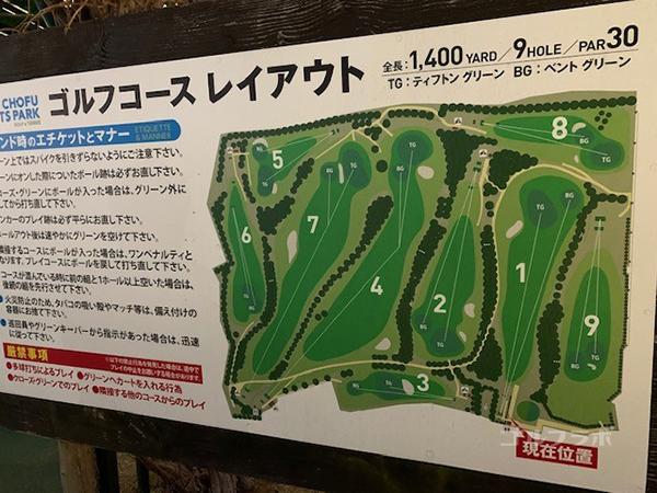東宝調布スポーツパークのコースレイアウト