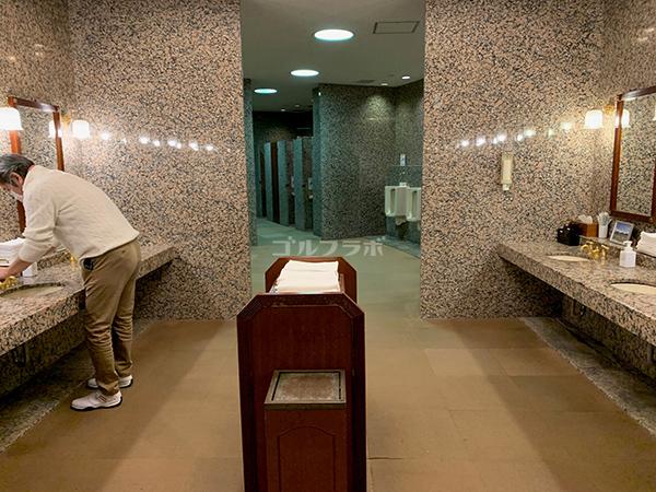 ピートダイゴルフクラブVIPコースのトイレ