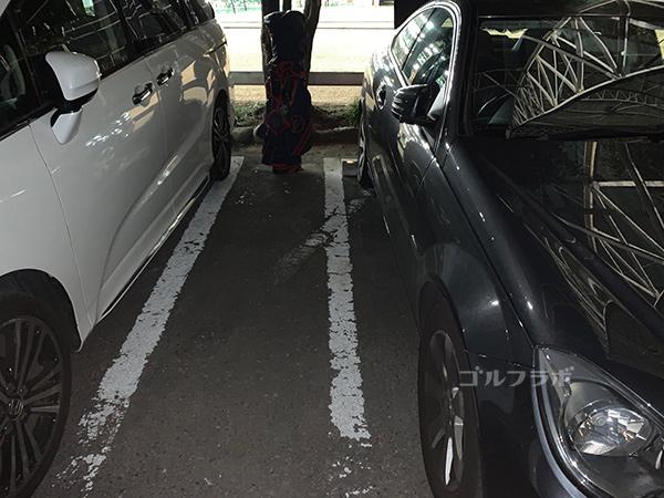 久我山ゴルフの駐車場