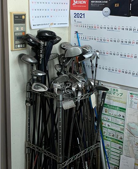 仙川ゴルフの貸しクラブ