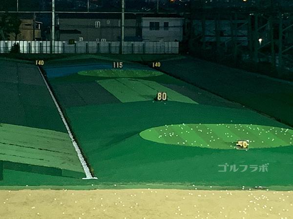 国立南ゴルフセンターのyd表示