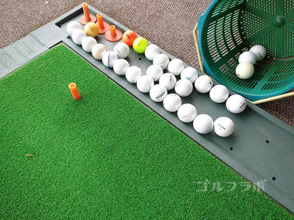 房総カントリークラブ房総ゴルフ場の練習ボール