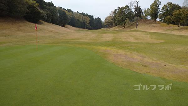 市原ゴルフクラブ柿の木台コースの11番ホールのグリーン