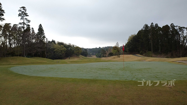 市原ゴルフクラブ柿の木台コースの14番ホールのグリーン