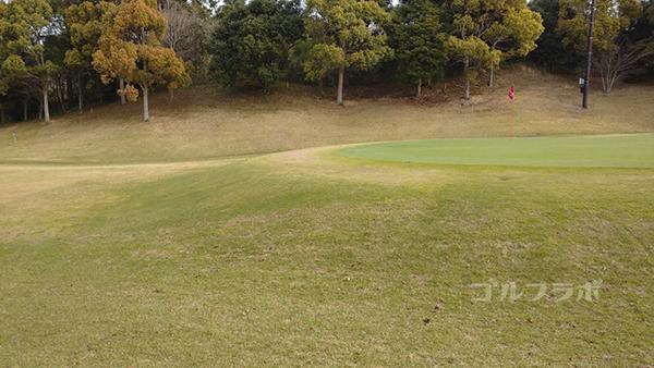 市原ゴルフクラブ柿の木台コースの17番ホールのグリーン