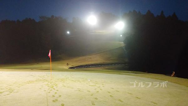市原ゴルフクラブ柿の木台コースの2番ホールのグリーン