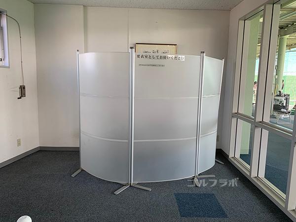 ワールドゴルフ練習場の更衣室