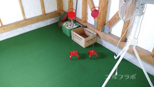 アタックゴルフ市原のパター練習場