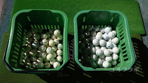 ジョイバードゴルフ練習場のボール