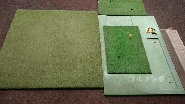 光風台ゴルフガーデンの屋内練習のマット