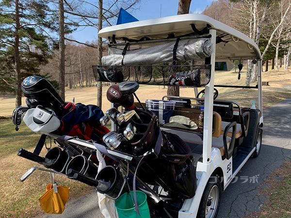 蓼科東急ゴルフコースのカート