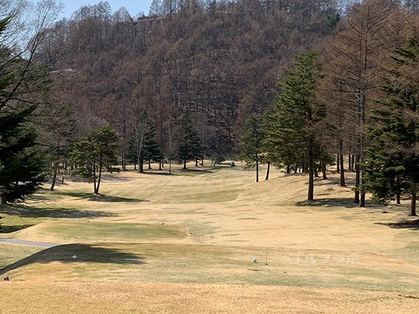 蓼科東急ゴルフコースの10番ホール