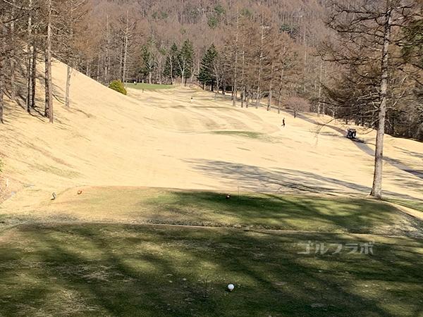 蓼科東急ゴルフコースの16番ホール