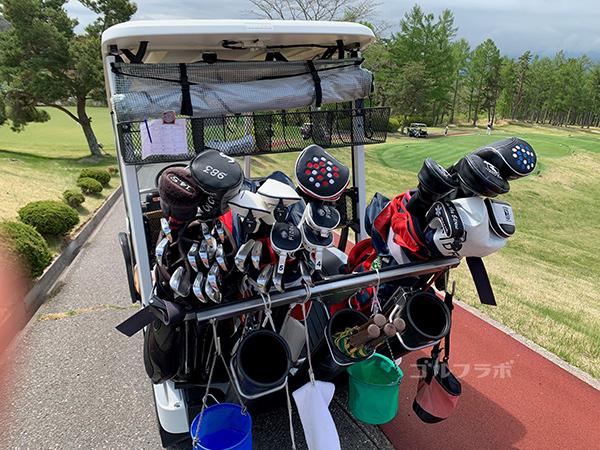 富士見高原ゴルフコースのカート