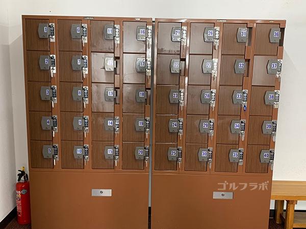 富士見高原ゴルフコースの貴重品ボックス
