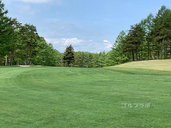 富士見高原ゴルフコースの1番ホール