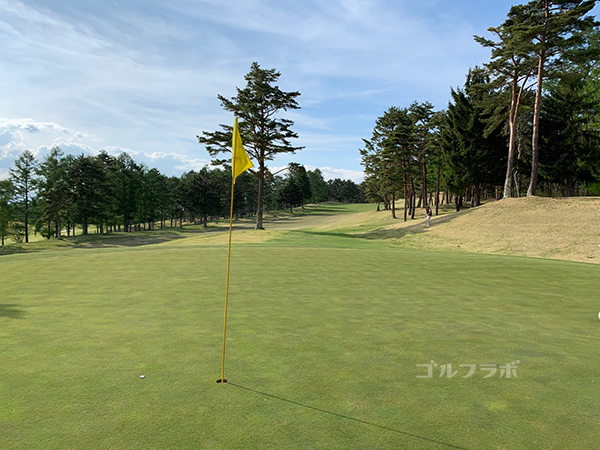 富士見高原ゴルフコースの18番ホール