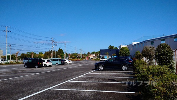 誉田ゴルフセンターの駐車場