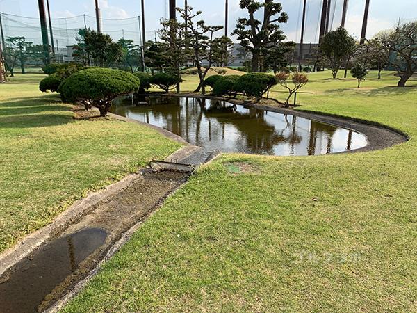 湘南グリーンゴルフの6番ホールの池