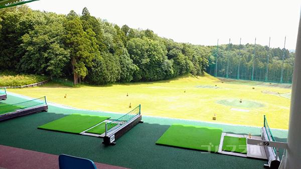おゆみ野ゴルフガーデンの2階打席