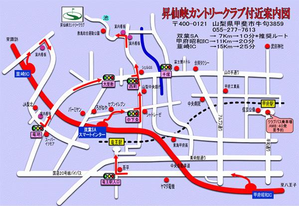 昇仙峡カントリークラブの地図