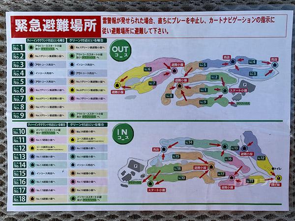 フォレストカントリークラブ三井の森の避難場所
