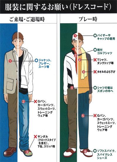 ユニオンエースゴルフクラブのドレスコード