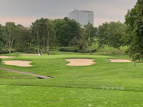 ニセコビレッジゴルフコースの17番ホール
