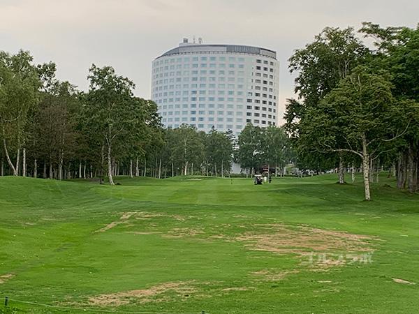 ニセコビレッジゴルフコースの18番ホール