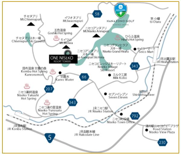 ニセコの地図